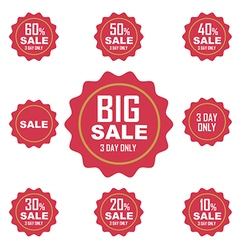 Big sale label or tag vector