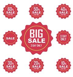 Big sale label or tag vector