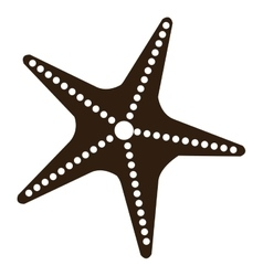 black and white starfish graphic vector image