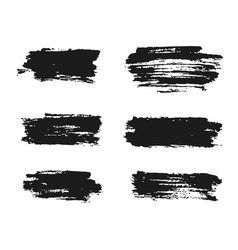 Black ink brush strokes hand painted vector
