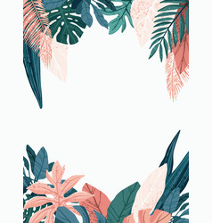 bright and trendy summer hawaiian banner party vector image