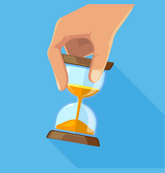 Business concept picture of hourglasses in hand vector