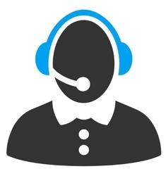 Call Center Woman Icon vector image