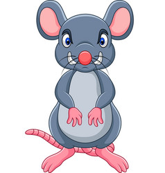 Cartoon angry mouse vector
