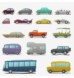 Cartoon cars set vector