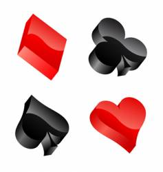 Casino symbols vector