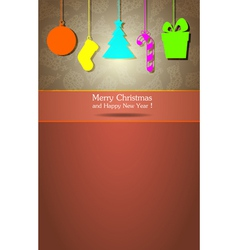 Christmas and New Year 3 vector image vector image