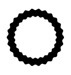 circle seal emblem icon vector image