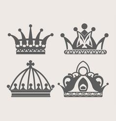 crown logo of royal diadem or heraldic tiara vector image