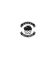 cupcake and ribbon bakery logo designs vector image