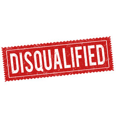 Disqualified grunge rubber stamp vector