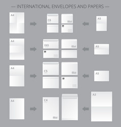 Documents paper size infographics vector