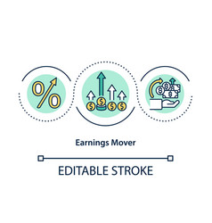 Earnings mover concept icon vector