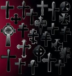 elegant cross - set vector image