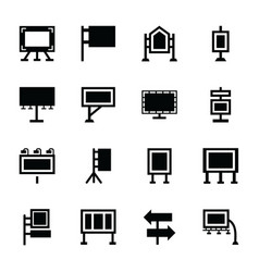 Exhibition stands icons vector