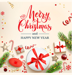 festive light cristmas card vector image