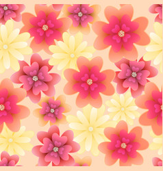 floral seamless pattern with flowers design for vector image
