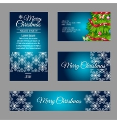 Four designer Christmas business cards vector image