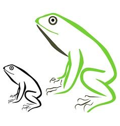 Frog 1 vector image