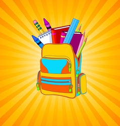Full backpack vector image