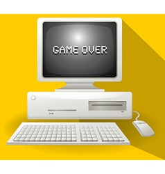 Game over computer concept vector