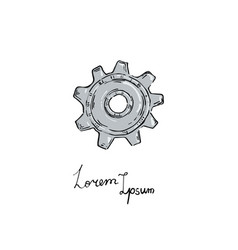 Gear icon doodle style vector