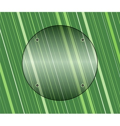 Glass on green background vector image
