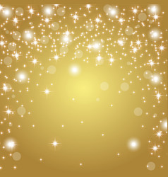 Gold background with glitter vector