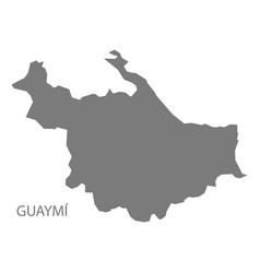 Guaymi panama map grey vector
