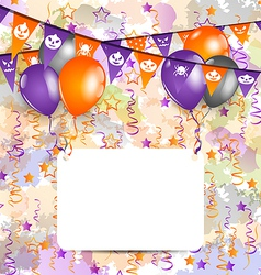 Halloween decoration with greeting card vector image