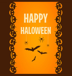 happy halloween poster ticket template vector image