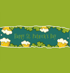 Happy patrick day banner vector