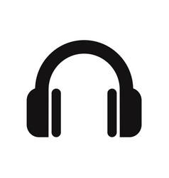 headphone icon headset music audio dj symbol vector image