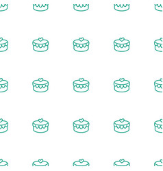 heart lock icon pattern seamless white background vector image