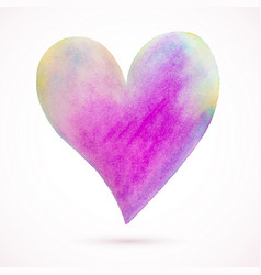Heart-pink-yellow-blue vector