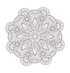 Henna paisley tattoo mandala mehndi style vector