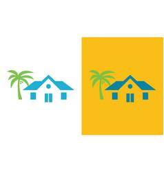 Home beach logo vector