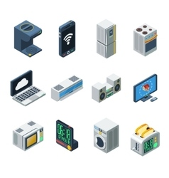 House Appliances Isometric Set vector image