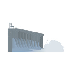Hydroelectric water dam sustainable energy source vector