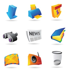 Icons for computer interface vector