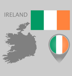 Ireland blank map vector