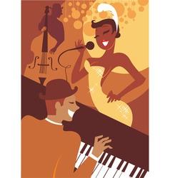 Jazz concert vector