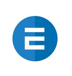 letter e icon design blue circle web icon vector image