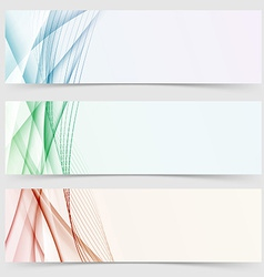 Line wave colorful header web collection vector