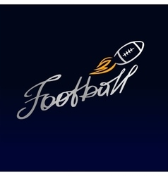 logo template football club rugby The ball vector image