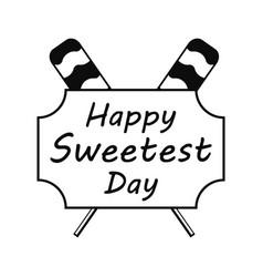 Lollipop sweet day logo simple style vector