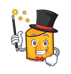 Magician rigatoni mascot cartoon style vector