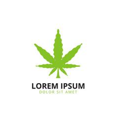 marijuana leaf logo template vector image