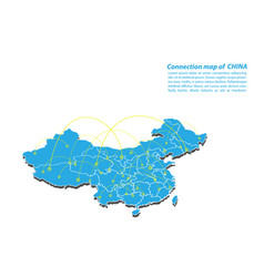 modern of china map connections network design vector image
