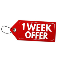 one week offer label or price tag vector image